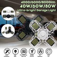 40/60/80W Deformable Ultra-bright LED Garage Ceiling Light For E26/E27 Socket