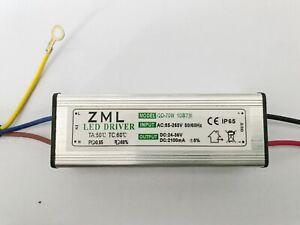 70W LED Driver Power Supply Waterproof 2100mA±5% DC 24V - 36V For Floodlight DIY