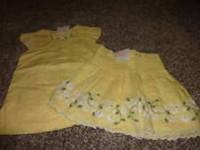 NWT NEW JANIE AND JACK 5T 6 YELLOW FLORAL TOP SKIRT SET FRESH DAISIES