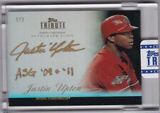 Justin Upton   2012 Topps Tribute Inkable Accolades  TA-JU1 SP 1/1 Rare!!!