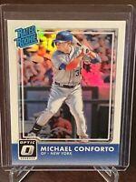 2016 Donruss Optic Michael Conforto Rookie Silver Prizm Holo Foil SP RC Mets #38