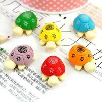 5x Cute 3D Turtle Tortoise Cleaning Rubber Eraser School Stationary Kid Gift·Toy