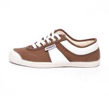 Kawasaki scarpe sneakers canvas 584001 marrone bianco brown white