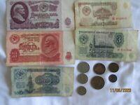 Russia,USSR,25,10,5,3,1  rubles ,20,15,10,5,3,2,1 kopeks,lot
