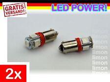 2x High Power BA9S LED 5SMD 5050 T4W Standlicht Rücklicht Leuchte Birne ROT L250