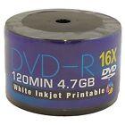 50 x AONE DVD-R White Inkjet Printable 4.7GB(16x) 120MIN ( Shrink Wrap)