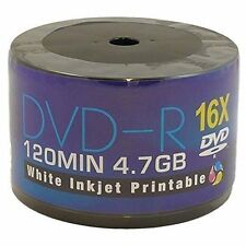 50  x AONE DVD-R White Inkjet Printable 4.7GB(16x) 120MIN ( Shrink Wrap)