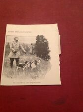 Ephemera 1903 Picture Millionaire Mr Caldwell And Beagles