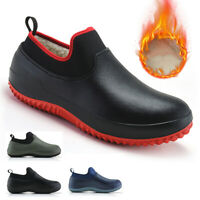 Non-slip Chef Shoes Mens Womens Kitchen Safety Shoes Winter Lined Work Boots