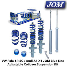 VW Polo 6R 6C / Audi A1 X1 JOM Blue Line Adjustable Coilover Suspension Kit