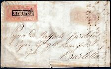 1859 - Lettera da Bari a Barletta - Affrancatura multipla
