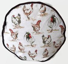 POUF fatto a mano-galline e Gallo-marrone in velluto a coste-Floor Cushion Pouf