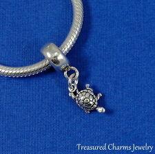 .925 Sterling Silver TURTLE TORTOISE EUROPEAN Dangle Bead fits CHARM Bracelet