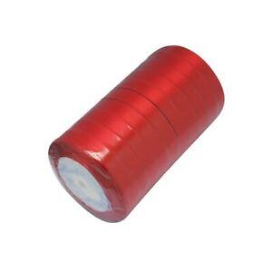 Satin Ribbon Red 22M Spool 12mm Wide
