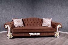 Barock Sofa Couch Kanapee braun Antik Massiv Vintage Stil Art Poltermöbel Lounge