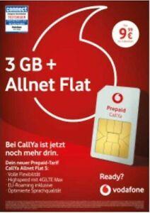 *SCHNÄPPCHEN* 10€ Vodafone Callya D2 Allnet Flat S Sim Karte 1.Monat GRATIS