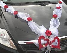 Autoschmuck 5 tlg Autogirlande weiß Hochzeit  Autogesteck Dekoration Brautauto