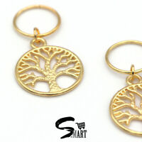 NEW GOLD TREE OF LIFE Hair Rings For Tresses Braids Plaits Accessories 10 20/Set