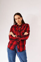 Vintage Checked Flannel Shirt Red (S)