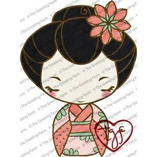 GEISHA ANYA-The Greeting Farm Cling Mount Rubber Stamp-Stamping Craft-RETIRED