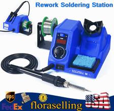 8 in 1 DC Power Supply SMD Rework Station Soldering Hot Air Gun Welder 110V