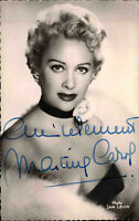 Autogrammkarte Autograph TV Bühne Film handsigniert MARTINE CAROL Autogramm