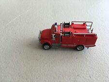 HO Scale 1/87 Red Boley International cab W/Red Brush Fire engine