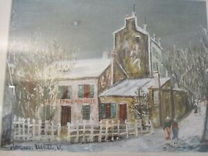 """Maurice Utrillo's painting High Quality Reproduction """"Cabaret du Lapin Agile XIX"""
