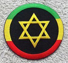 "RASTA STAR OF DAVID PATCH 3"" Cloth Badge/Emblem/Insignia Judah Biker Jacket Bag"