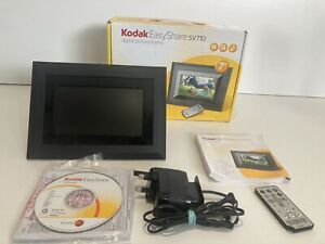 """Kodak Easy Share SV710 7"""" Digital Photo Frame With Remote Software Etc Boxed"""