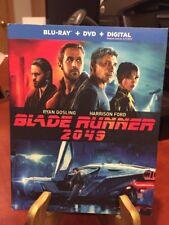 BLADE RUNNER 2049 (BLU-RAY+DVD+DIGITAL, R) Mfg. Sealed