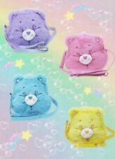 Japan Care Bears Pink Rainbow Cheer Bear Furry Hand Bag Crossbody