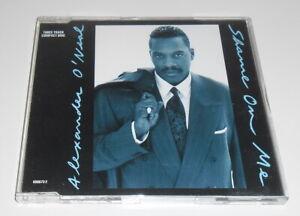 ALEXANDER O'NEAL - SHAME ON ME - 1991 UK 3 TRACK CD SINGLE