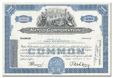 Natco Corporation Stock Certificate