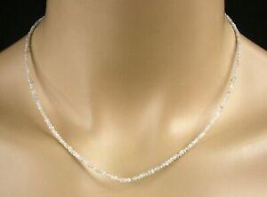 Rohdiamant Kette - Collier in weiß, 16 Karat, Diamant, Edelstein