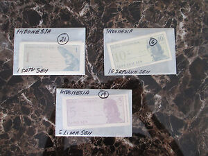 lot 46 INdonesia Currency Bills Mint