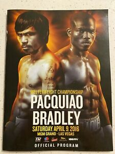 MANNY PACQUIAO vs TIMOTHY BRADLEY OFFICIAL BOXING FIGHT PROGRAM  MINT