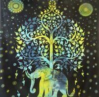 Elefantenbaum - Indische Tagesdecke - 210 x 240 cm