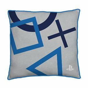 PLAYSTATION Kissen Blau Eckig Vorgefüllt Doppelseitig Gamers Sofa Schlafzimmer