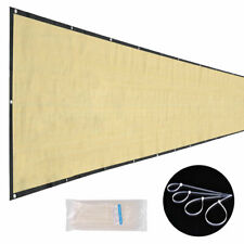 50x6ft Privacy Fence Windbreak Screen Knitted Garden Patio Shade Mesh HDPE Beige