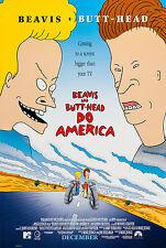 BEAVIS AND BUTT-HEAD DO AMERICA (1996) ORIGINAL MOVIE POSTER  -  ROLLED