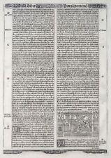 BIBEL BLATT BIBLIA CUM CONCORDANTIIS VETERIS HOLZSCHNTT MARESCHAL LYON 1523