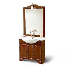 Mobile bagno classico con lavabo da cm 85 arte povera con specchio e applique