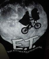 E.T. Extraterrestrial Movie Mens T-Shirt  XL Black Short Sleeve 100% Cotton