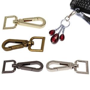 Iron Swivel Lobster Snap Clasp Clips Hook D Ring Keychain Key Ring for Handbag