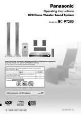 Panasonic SC-PT250 Home Theater System Owners Instruction Manual
