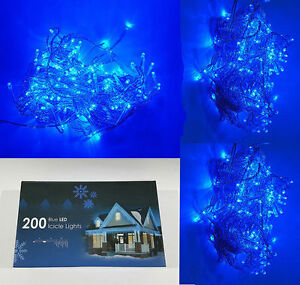 Blue Fairy 200 Indoor/Outdoor Lights LED String Xmas Decoration & Tree Party UK