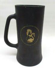 Vtg Playboy Club Bunny Beer Stein Mug Matte Black w/ Gold & 2  Swizzle Sticks
