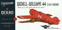 Wedell Williams 44 (1931 version) - DEKNO models - 1/72 - resin kit