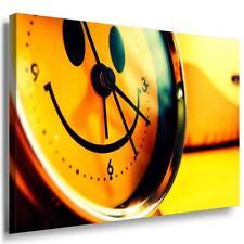 Smily Uhr Leinwandbild LaraArt Bilder Mehrfarbig Wandbild